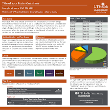 standard size posters son poster templates media the university of texas health