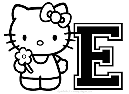 Hello Kitty Alphabet Coloring Pages With Download Letter C At 8 And