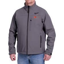 Milwaukee Heated Jacket Light Colors Milwaukee Mens Large M12 12 Volt Lithium Ion Cordless Gray Heated Jacket Kit With 1 2 0ah Battery And Charger