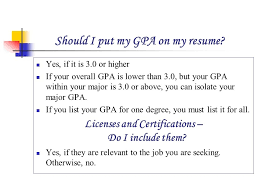 Should You Put Your Gpa On Resume - Make Resume pertaining to Should I Put  My