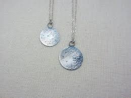 full moon necklace in sterling silver