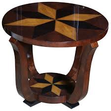 pictures of art deco furniture. Art Deco Exotic Walnut \u0026 Star Inlay Accent Table Pictures Of Furniture