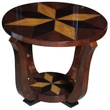 art deco era furniture. Art Deco Exotic Walnut \u0026 Star Inlay Accent Table Era Furniture