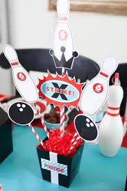 Decorated Bowling Pins A Boy's Retro Bowling Birthday Party Anders Ruff Custom Designs LLC 46