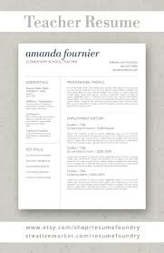 Resume Templates That Stand Out Teacher Resume Template By Resume Foundry Our Professionally 31