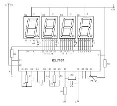 led display digital voltmeter circuit diagrams schematics led display digital voltmeter