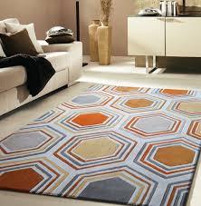 impressive grey and orange area rug rugs nice home goods pink in