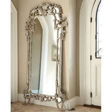 silver floor mirror. Jessica McClintock The Boutique Decorative Floor Mirror (Silver Veil) Silver