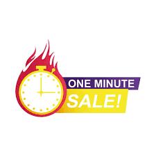 distintivo di conto alla rovescia di vendita di un minuto - Scarica  Immagini Vettoriali Gratis, Grafica Vettoriale, e Disegno Modelli