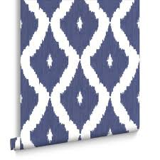 Patterned Wallpaper Extraordinary Blue White Patterned Wallpaper Noona Interiors