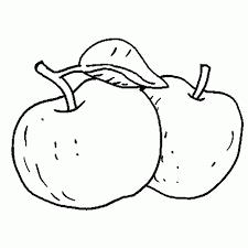 Manzanas Para Colorear Dibujo Para Colorear Manzanas 01