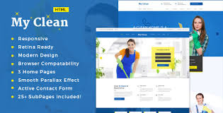 advertising a cleaning business myclean cleaning company html5 responsive template by themewar