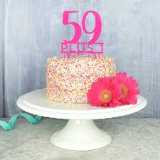 60th Birthday Cake Topper By Pink And Turquoise Notonthehighstreetcom