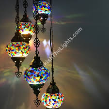 5 ball turkish mosaic chandelier lamp c5 106 hover to zoom