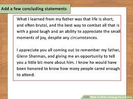 How To Write A Eulogy For A Father 15 Steps With Pictures