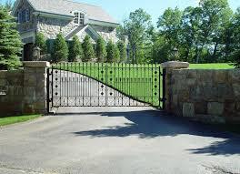 Stone Entry Gate Designs Custom Designed Driveway Gates Tri State Gate