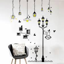 creative cartoon chandelier pvc wall sticker diy remova