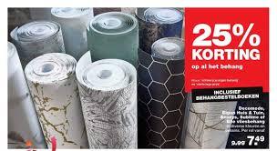 Behang 25 Korting Aanbieding Bij Karwei