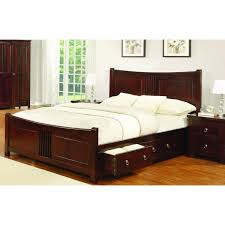 mahogany bed frame. Delighful Mahogany Mahogany Wood 6ft Super King Size Bed Frame With 4 Storage Drawers Intended