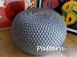 Knitted Pouf Pattern Amazing Inspiration