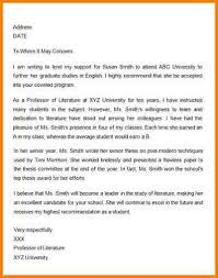 recommendation letter for professor example letter of recommendation for student kays makehauk co
