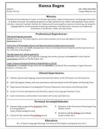 Cozy Ideas Slp Resume Examples 8 A Tale Of Two Resumes Hanna B SLP
