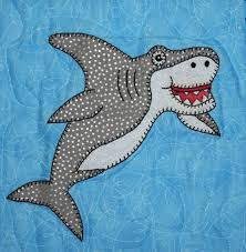 Great white shark PDF applique pattern; smiling shark quilt ... & Great white shark PDF applique pattern; smiling shark quilt; marine or  ocean animal quilt block pattern; child's or baby boy's quilt pattern from  ... Adamdwight.com
