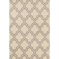 world rug gallery modern moroccan trellis cream 8 ft x 9 ft area rug