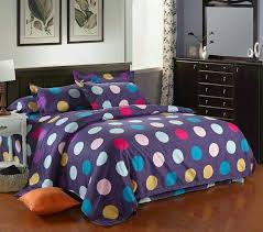 colour midium polka dot pattern duvet covers bedding set double king b10