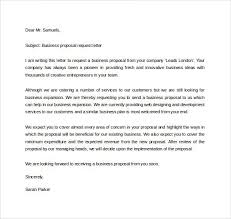 A Sample Of A Proposal Business Proposal Request Letter Business Proposal Letter