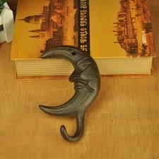 Wholesale Vintage Decorative Hook <b>Cast Iron Moon Wall</b> Hook ...