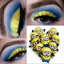 minions inspired eye makeup minions makeup summermakeup minionsmakeup