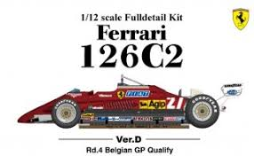 There is also the normal version for this formula one papercraft: Model Factory Hiro 1 12 Car Model Kit K436 Ferrari 126c2 F1 1982 Ve 663 00