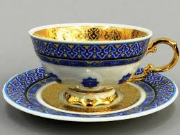 <b>Чашка низкая</b> с блюдцем <b>National</b> Traditions (Узбекистан) 200 мл ...