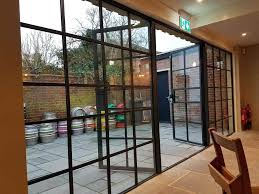 internal view of heritage french doors crittall style smart