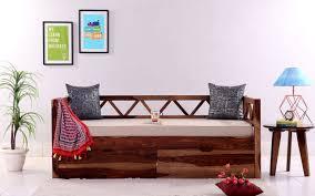 Simple Diwan Design Buy Benicio Divan Honey Finish Online In India In 2020