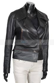 charlotte asymmetrical black genuine leather jacket womens