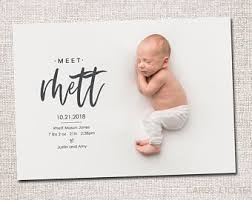 Birth Announcement Etsy