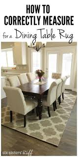 How To Correctly Measure for a Dining Room Table Rug and the best rugs for  kids! SixSistersStuff.com | Six Sisters' Stuff Projects | Pinterest |  Dining room ...