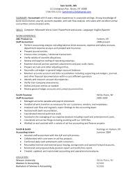 Staff Accountant Resume Samples Free Resume Example And Writing