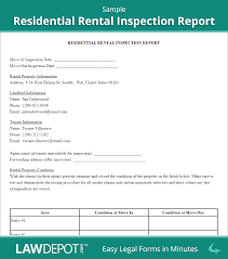 Sample Rental Inspection Report Being A Landlord Home