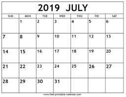 Free Clander July 2019 Calendar Free Printable Calendar Com