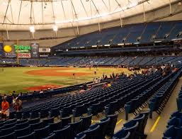 Rays Seating Chart With Rows Tropicana Field Section 129 Seat Views Seatgeek