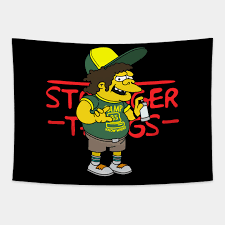 Camp Know Where 85 Stranger Things Dustin Simpson - Camp Know Where 85 -  Tapestry   TeePublic