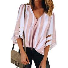 Walmart Womens Size Chart Lelinta Womens Plus Blouses Shirts Lace Patchwork 3 4 Bell Sleeve V Neck Super Soft Top Up Size To 3xl Pink Black Blue Red Color