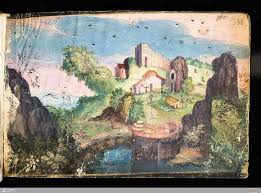 an anthropomorphic landscape after merian s prototype this one painted in the al amicorum of johann jakob sparn dated entries wlb cod hist oct