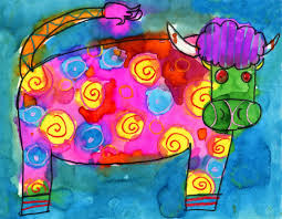 Crazy Painting Crazy Cow Painting Art Projects For Kids