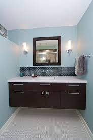 giving the vanity some breathing room means you can actually clean back there dust bunnies don t have a chance with wall mounted vanities