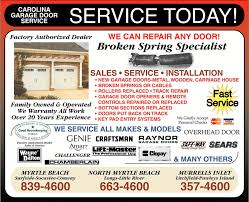 carolina garage doorContact  Carolina Garage Door Service  Myrtle Beach SC