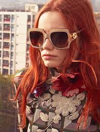gucci 54mm sunglasses. gucci crystal-trim square gradient sunglasses 54mm
